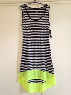Ninety Black & White with Neon Yellow Dress