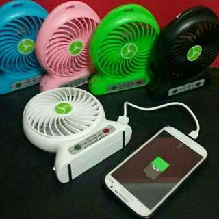 Kipas angin mini portable power bank 2in1
