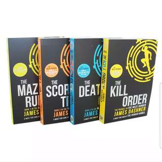 The Maze Runner Series Set of 4 by James Dashner