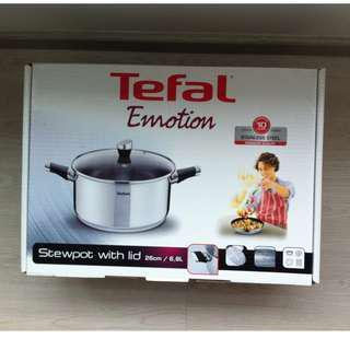 Tefal Emotion Stainless Steel Stew Pot w/Lid 26cm