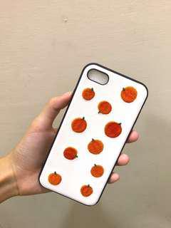 iPhone 7/8 橘子刺繡手機殼 4.7吋