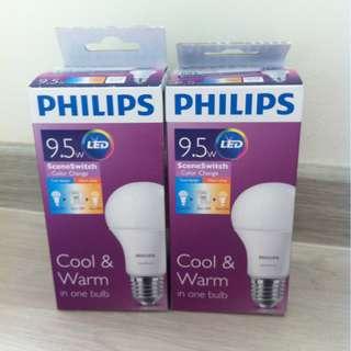 Philips Scene Switch Bulb (Cool/Warm) x 2