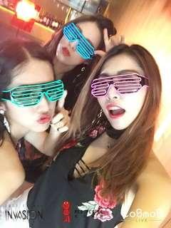 🚚 雷電眼鏡 Arcadia Tomorrowland 派對眼鏡 附電池