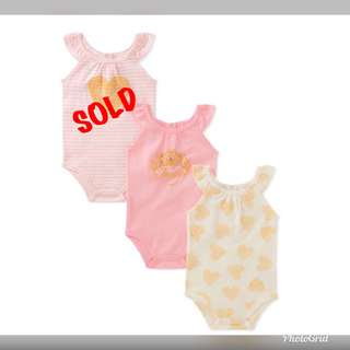 🚚 *9M* BN Juicy Couture Bodysuits For Baby Girl
