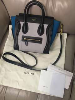 Celine Luggage Bag nano 99%new 無花 少用 錫住用