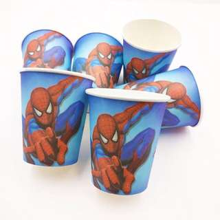 💥Superheroes Spiderman party supplies - party cups