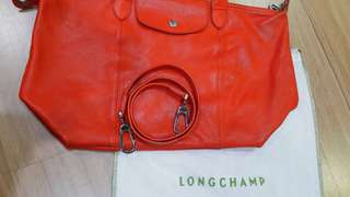 💯authentic Longchamp le pliage cuir