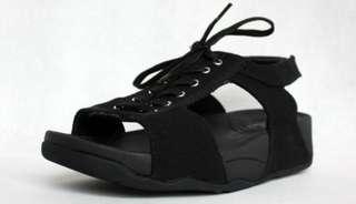 Canvas Black Fitflop Sandal
