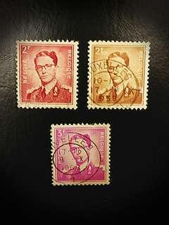 Belgium Stamps (Set of 3)