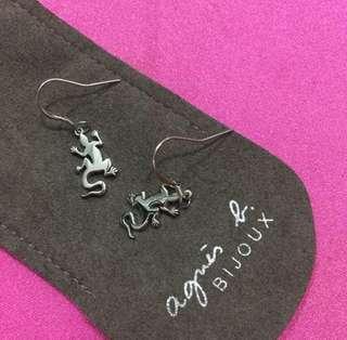 Agnes b 純銀 耳環 earrings 蜥蜴 原價$500