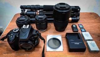 Nikon D3400 + 3 lenses