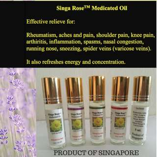 SingaRose Premium Medicated Oil with Nice Scent