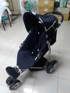 英國名牌sliver cross兒童推車(1歲以上幼兒用),安全性~強化鋁合金車架,大車輪帶煞車