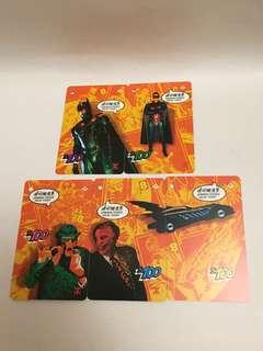 地鐵珍藏,蝙蝠俠記念車票一套共5張
