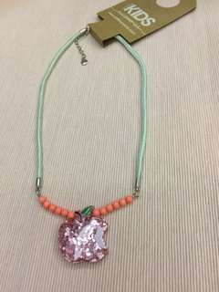Sparkly apple necklace for girls by Cotton On