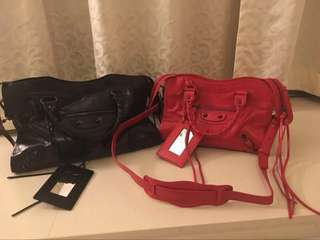 Red Balenciaga Bag