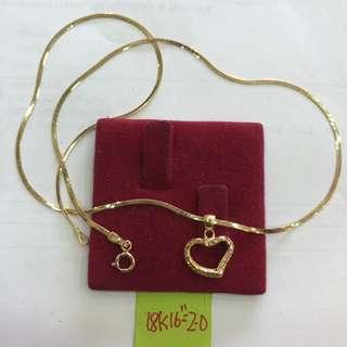 Saudi Gold 18k Necklace