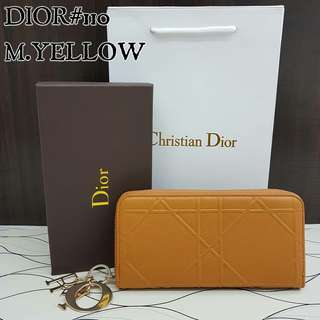 Dior Wallet Mustard Yellow