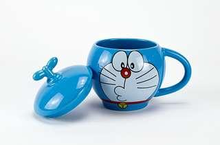 叮噹 多啦A夢 Doraemon 300ml 咖啡杯 連蓋ceramic coffee mug cup