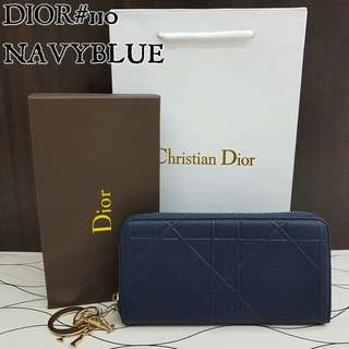 Dior Wallet Navy Blue Color