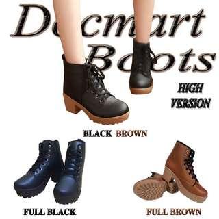 Sepatu Ankle Boots Wanita Kulit Sintetis Heels Premium