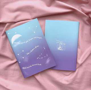 wts bts fanart notebook