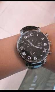 原廠正貨全新100%real,new鐵達時機械皮帶錶😎男女皆可