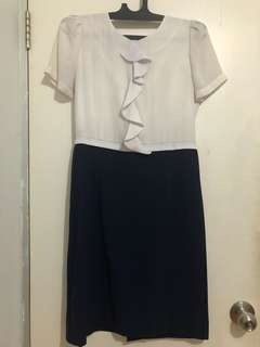 White Blue Dress