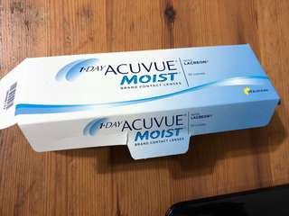 Daily contact lenses (Acuvue moist)