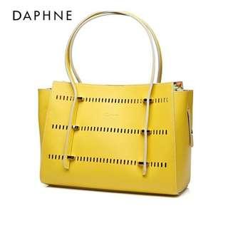 🚚 Daphne/達芙妮鏤空手提包個性氣質包包韓版磁扣女包全新清倉 挑戰最低價 任選3件免運費