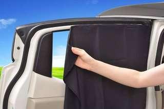 日本 車窗防灑窗簾布(磁石貼)