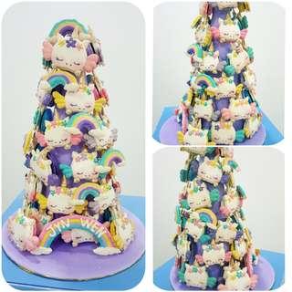 Unicorn macaron tower
