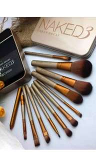 makeup brush Naked3 set isi 12 pcs