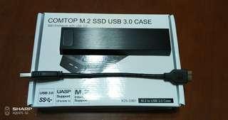 M.2 256 SSD 連 USB 3.0 Case