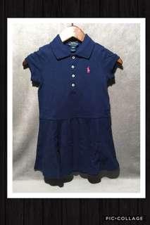 🚚 🦄全新私物 正品 POLO RALPH LAUREN 經典款深藍 小洋裝 3歲 賠售賣✨
