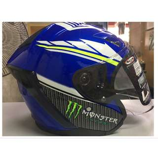 🔥On Sales🔥 Helmet MHR OF622 Beatz Yamaha Movistar With Visor