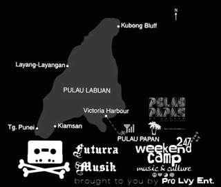 Weekend Camp @ Pulau Papan di Labuan, Malaysia