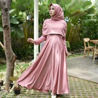 MF - 0418 - Dress Gamis Busana Muslim Wanita Sabina Maxi