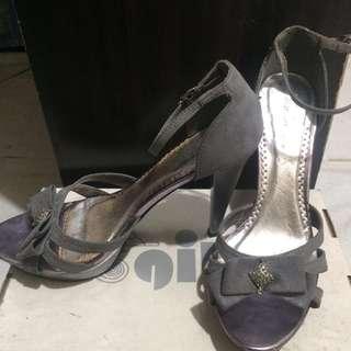 Silver Gray Gibi Heels