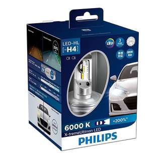 PHILIPS H4 LED 6000K 白光 (頂級版)