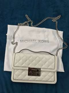 Michael Kors white chain bag