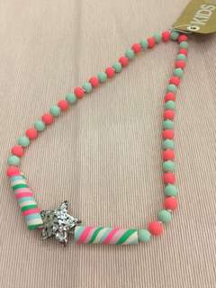 Star sparkly mixed beads necklace by Cotton On