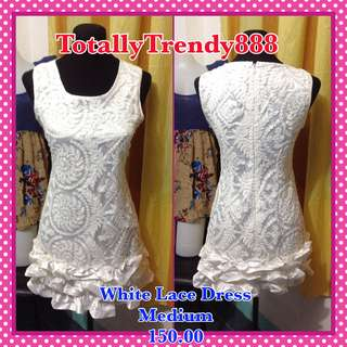 White Lace Dress Medium