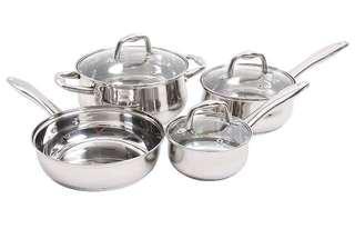 Sunbeam cookware stainless steel set.