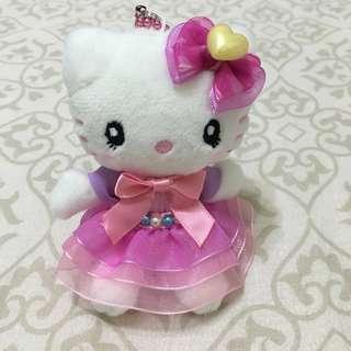 全新環球影城 hello Kitty 珍珠洋裝玩偶吊飾
