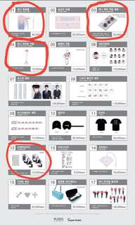 [LF/WTB] Seventeen Ideal Cut Concert merch