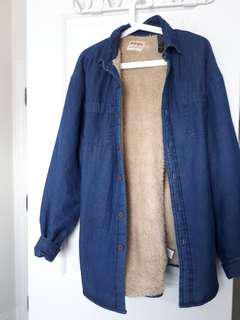 Oversized Denim Wool Jacket