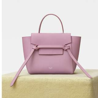 Celine nano belt in pink