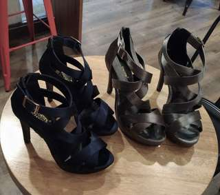 🚚 台灣製 舞台鞋 灰22.5 23 23.5 深藍(接近灰色)22.5 高跟鞋