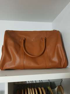 Tan Leather Duffle Bag
